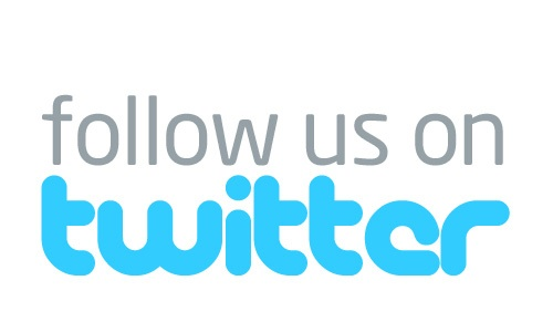 Twitter logo follow us
